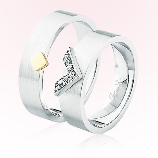Verighete Cu Diamante | JSS 0301 | Verighete Jasmin